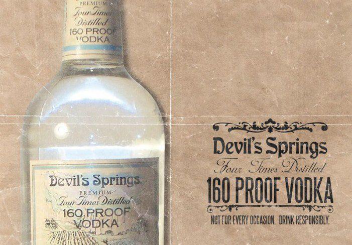 Devil Springs Vodka with 80% abv