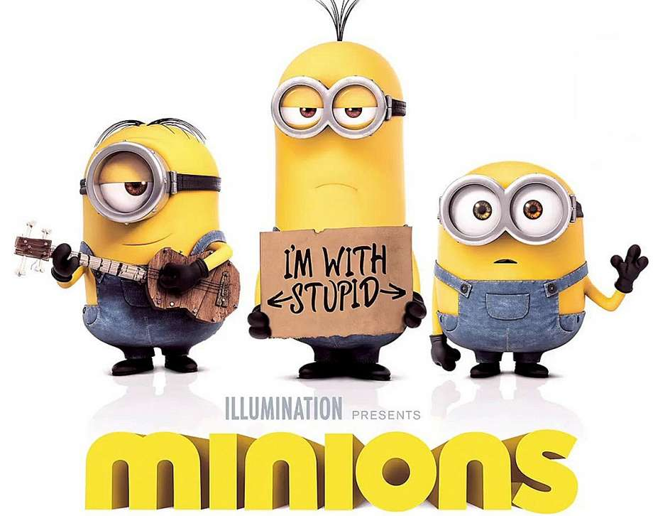 Minions acting weird in poster
