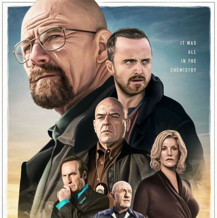 breaking bad character poster
