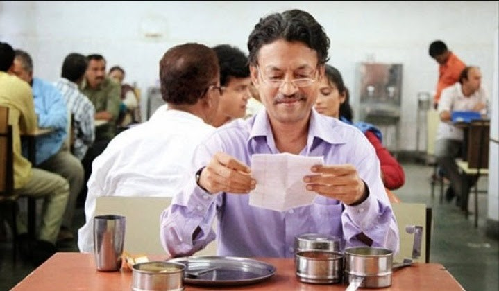 irrfan khan reading letter from movie the lunchbox