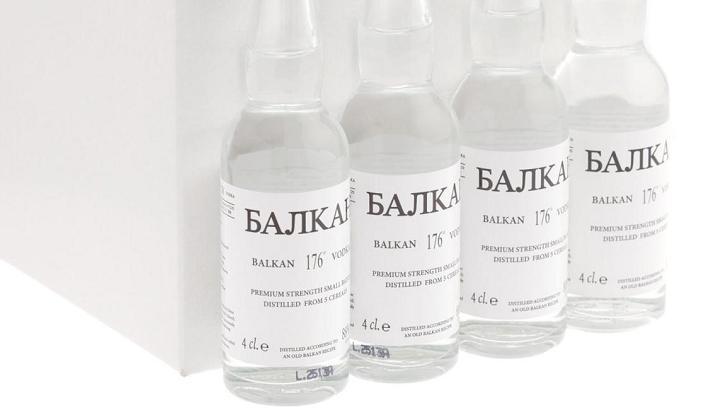 Balkan vodka with 88% ABV