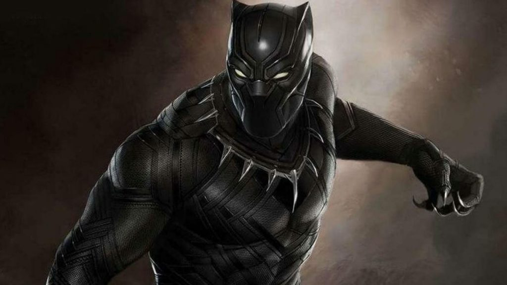 Black Panther character in black suit