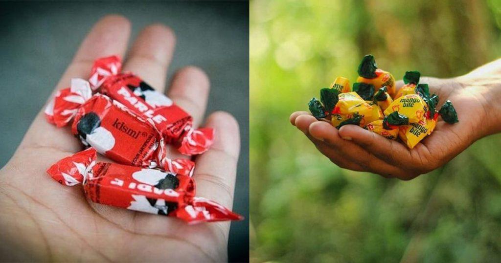 old nostalgic chocolates kismi and mango bite