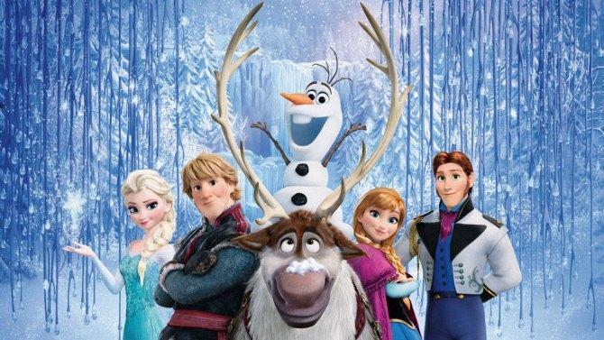 Frozen characters posing