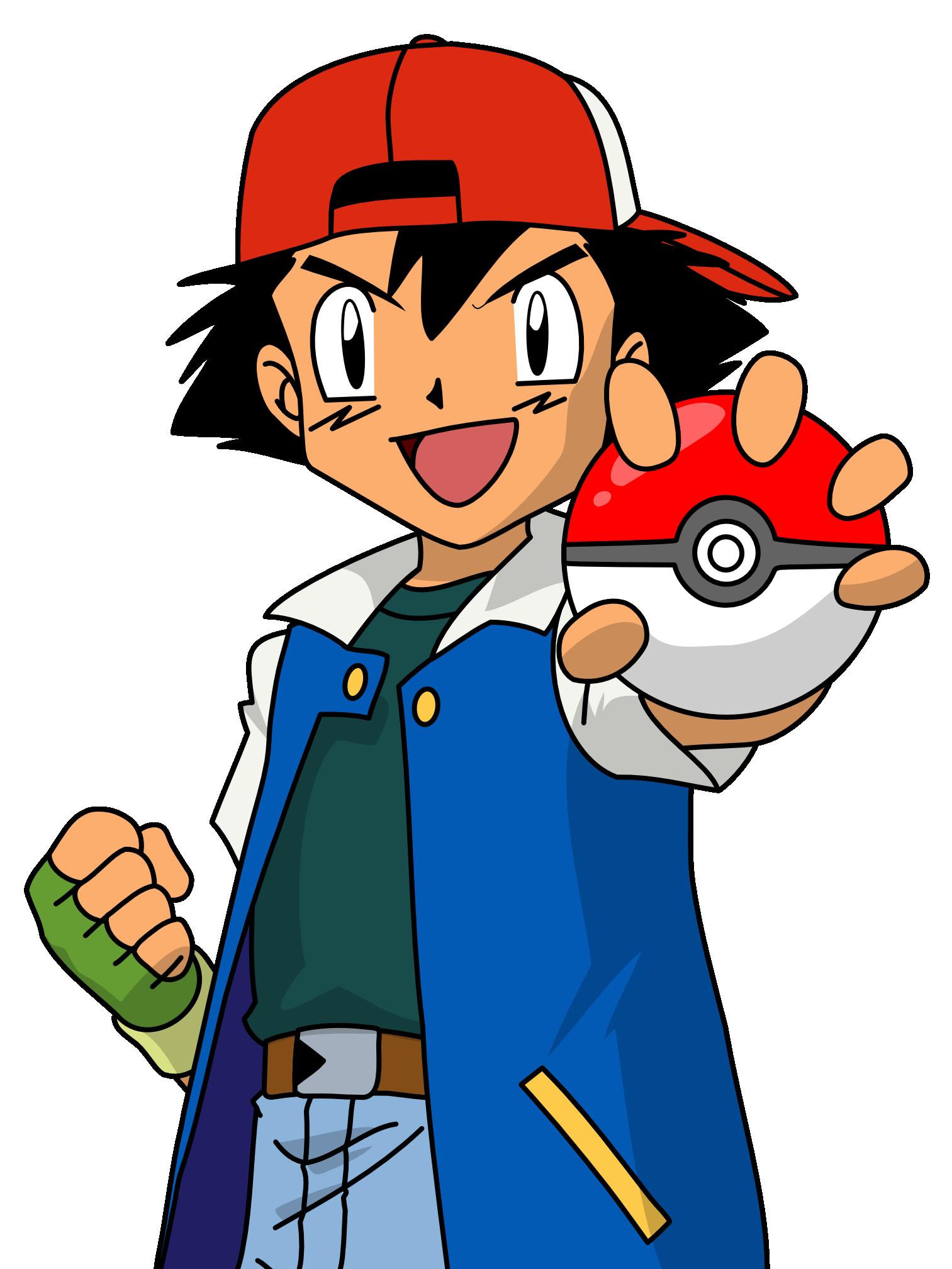 ash and pokemon ball