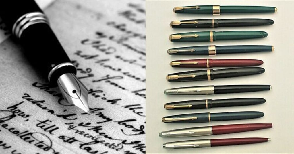 collection of fountain pens
