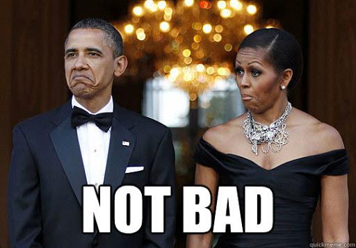 obama facial expression expressing not bad