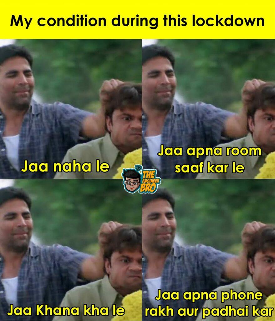 akshay kumar and rajpal yadav lockdown meme from hera pheri