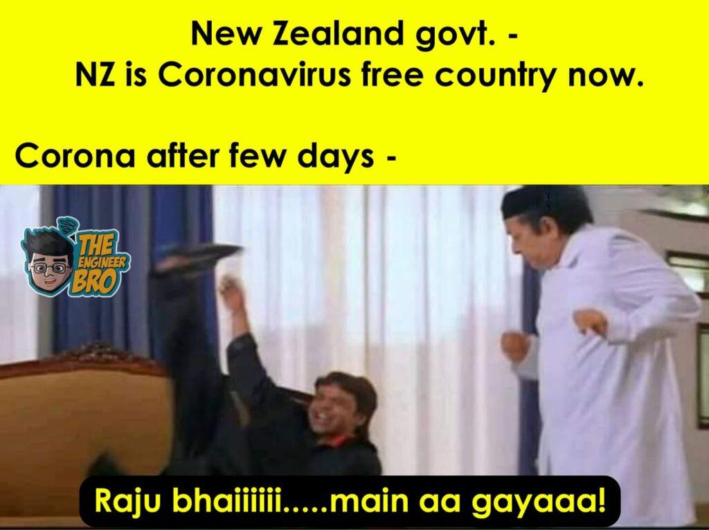 Hera Pheri MEME on coronavirus free country