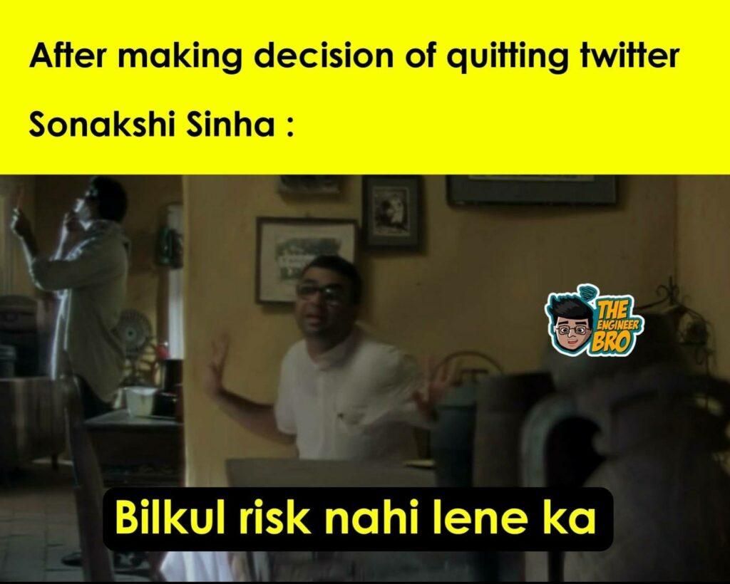 Hera Pheri meme with baburao saying bilkul risk nahi lene ka