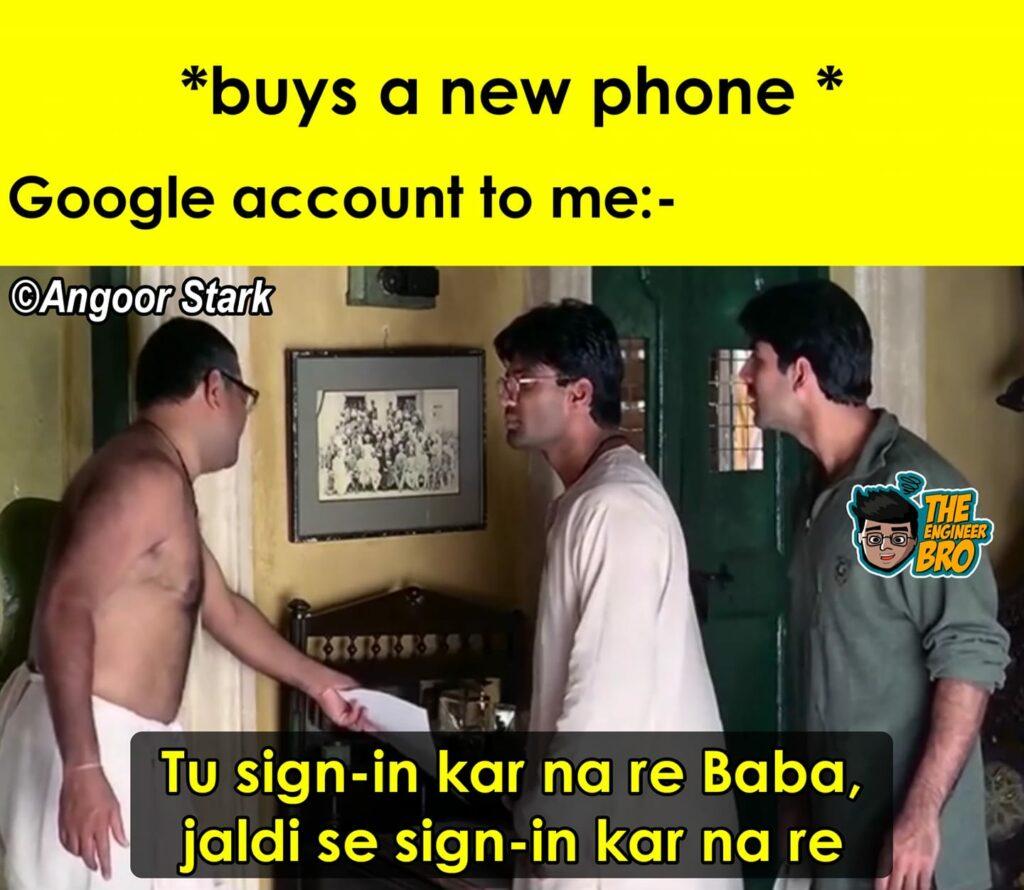 sign kar na re baba meme from Hera Pheri