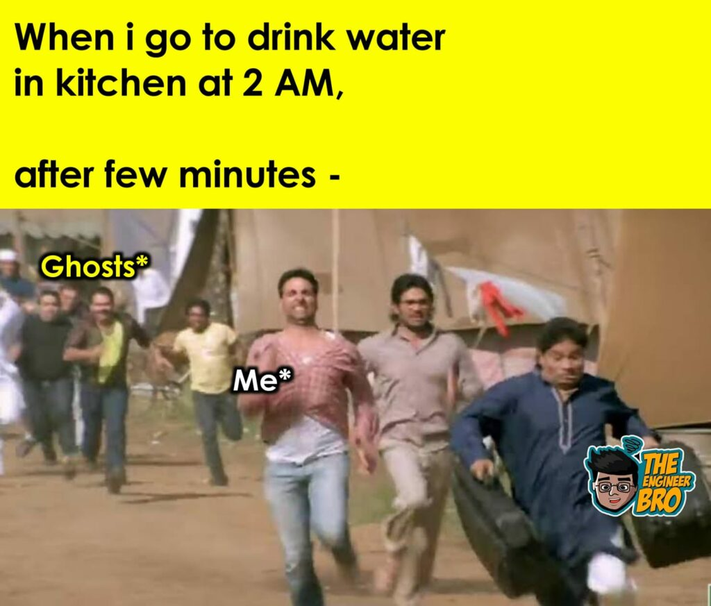 Hera Pheri running akshay kumar meme after turning off light at night