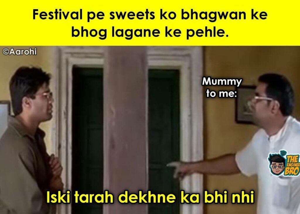 hera Pheri meme with baburao and sunil shetty saying iski tarah dekhne ka bhi nahi