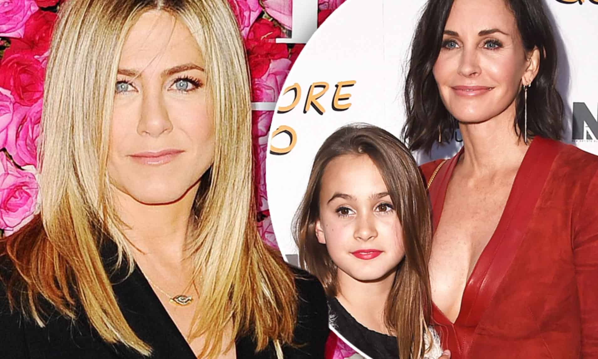jennifer with courtney cox and daughter coco arquette