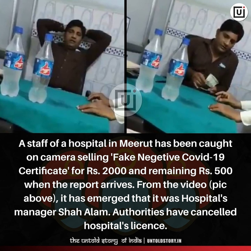 doctor giving fake covid certificate