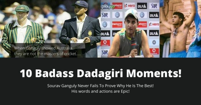 10 moments by sourav ganguly to prove his dadagiri