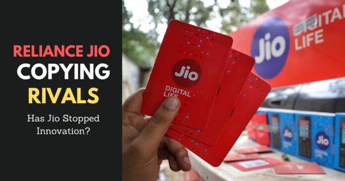 reliance jio copying designs of their rival apps