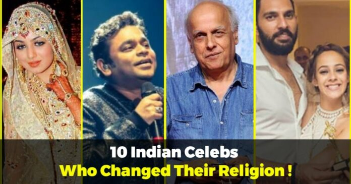 indian celebrities who changed religion