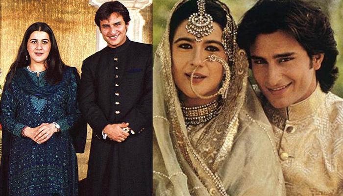 amrita singh with husband saif ali khan