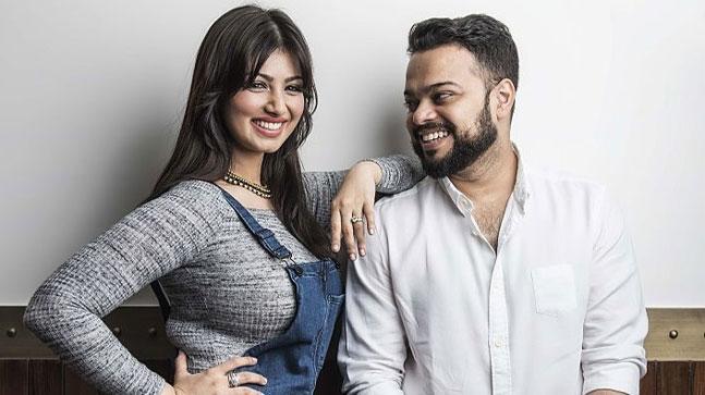 ayesha takia with husband farhan