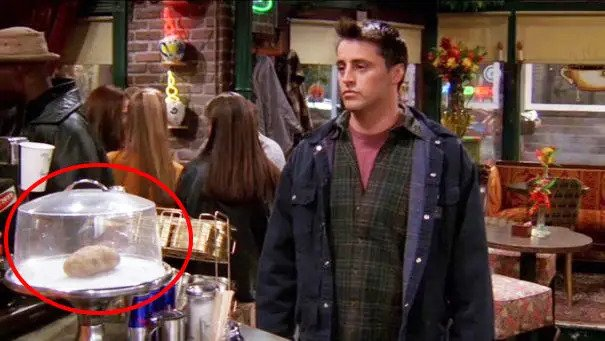 potato in the set of central perk in friends