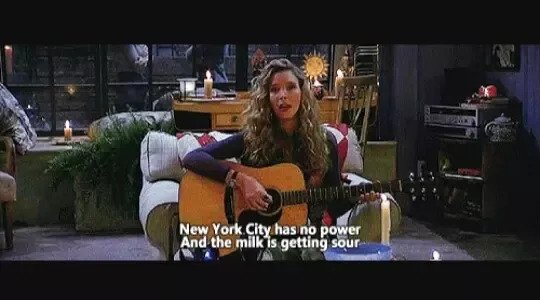 phoebe singing song while there was power cut