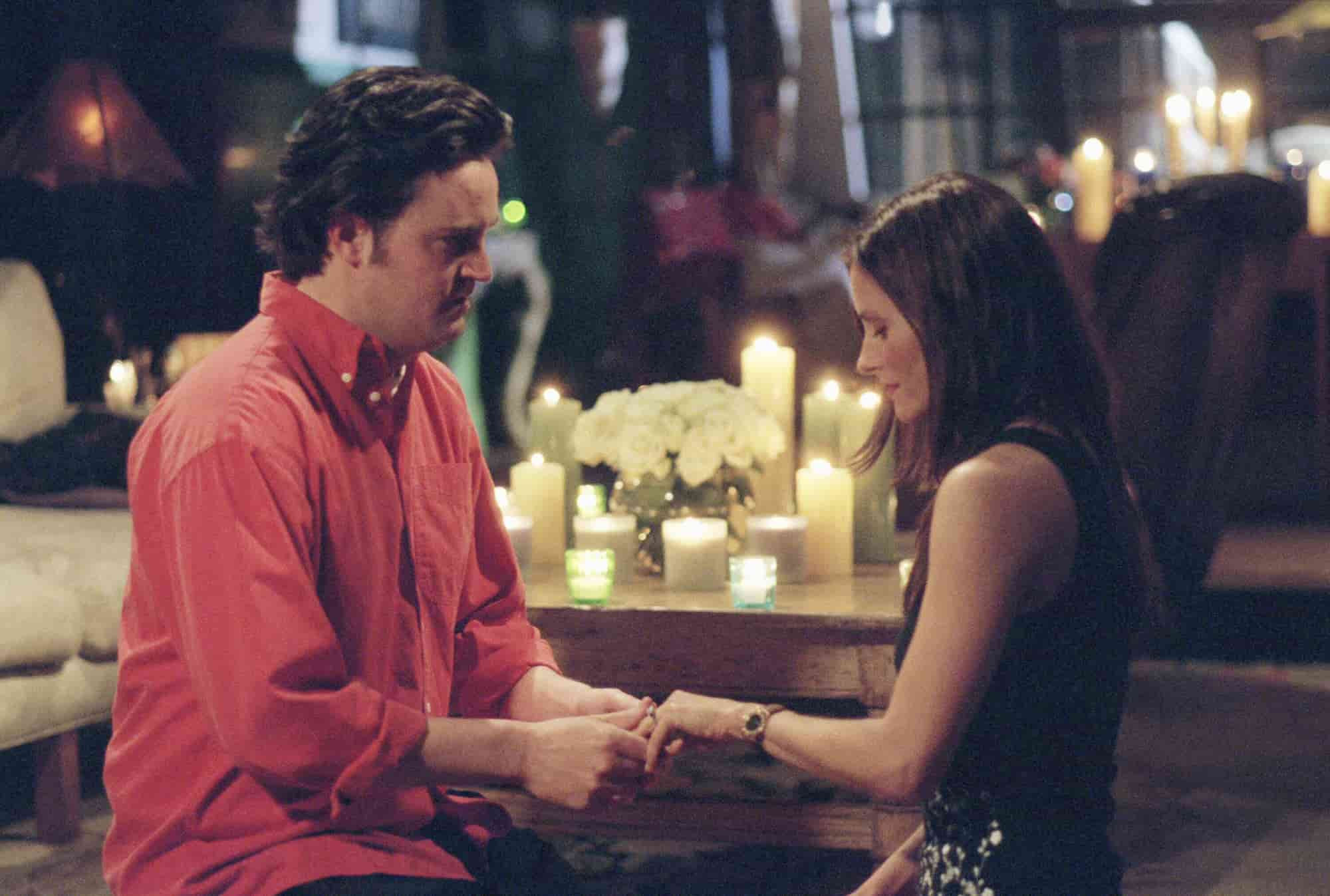 monica proposing chandler to marry her