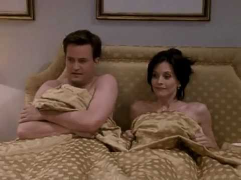 monica and chandler in bed after making out in london