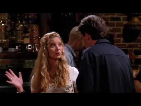 phoebe breaking up easily infront of chandler