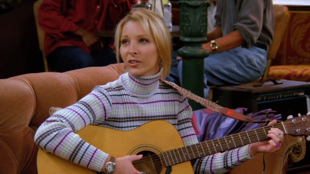 phoebe playing with her guitar