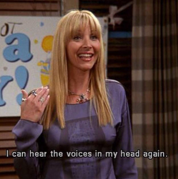 phoebe with her psychic powers where she can hear voices