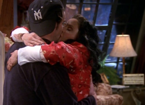 fat monica kissing chandler in the other universe