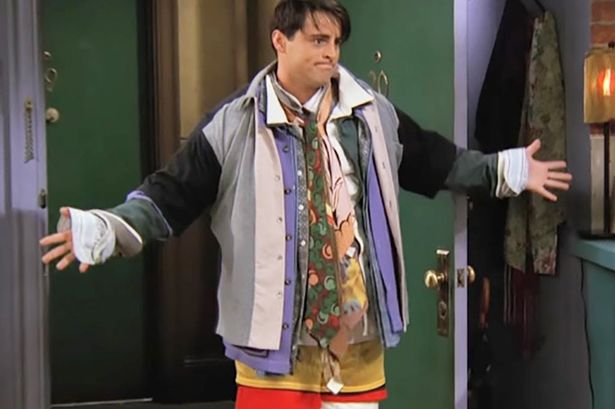 joey wearing everything chandler owns