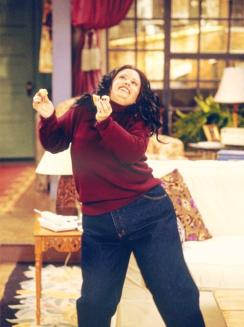 fat monica dancing