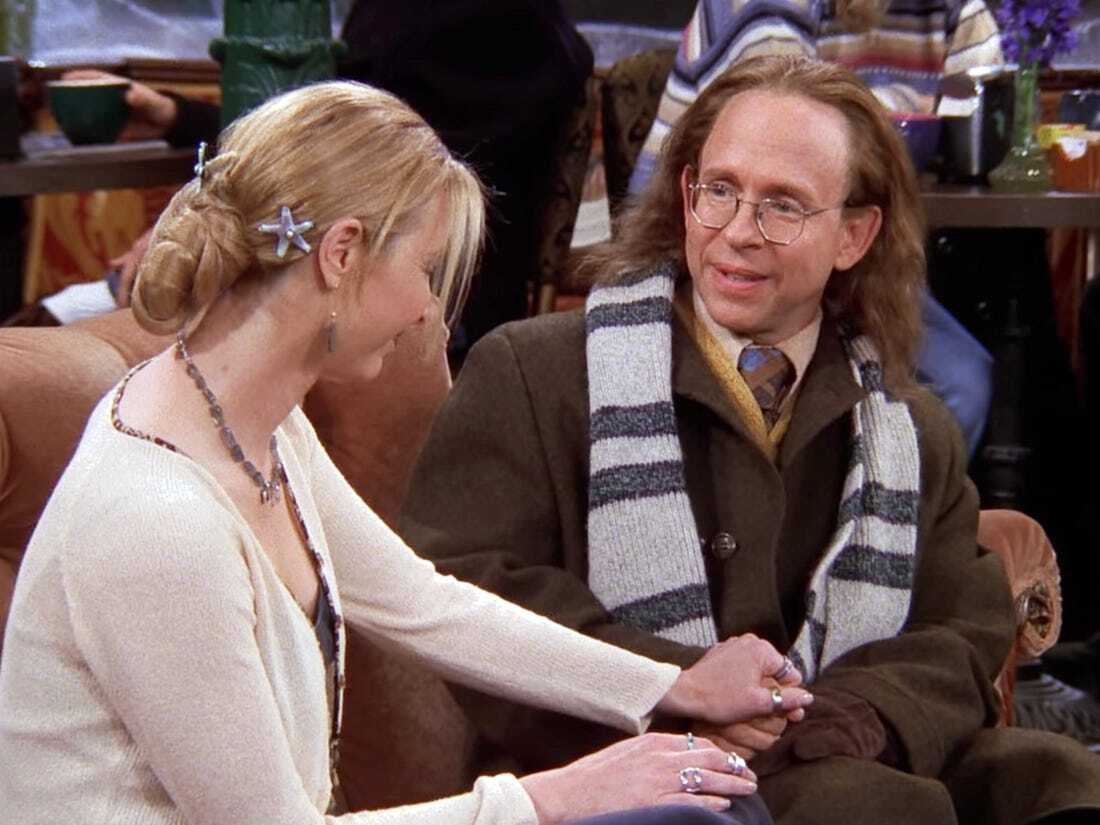 phoebe buffay with her dad
