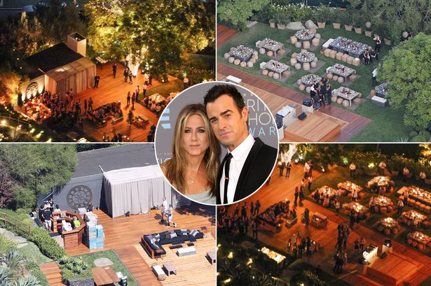 wedding of jennifer aniston with Justing Theroux