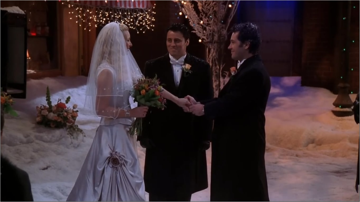 phoebe wedding with mike with joey as a minister