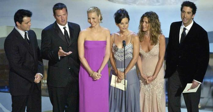 friends characters in an award show confession secrets
