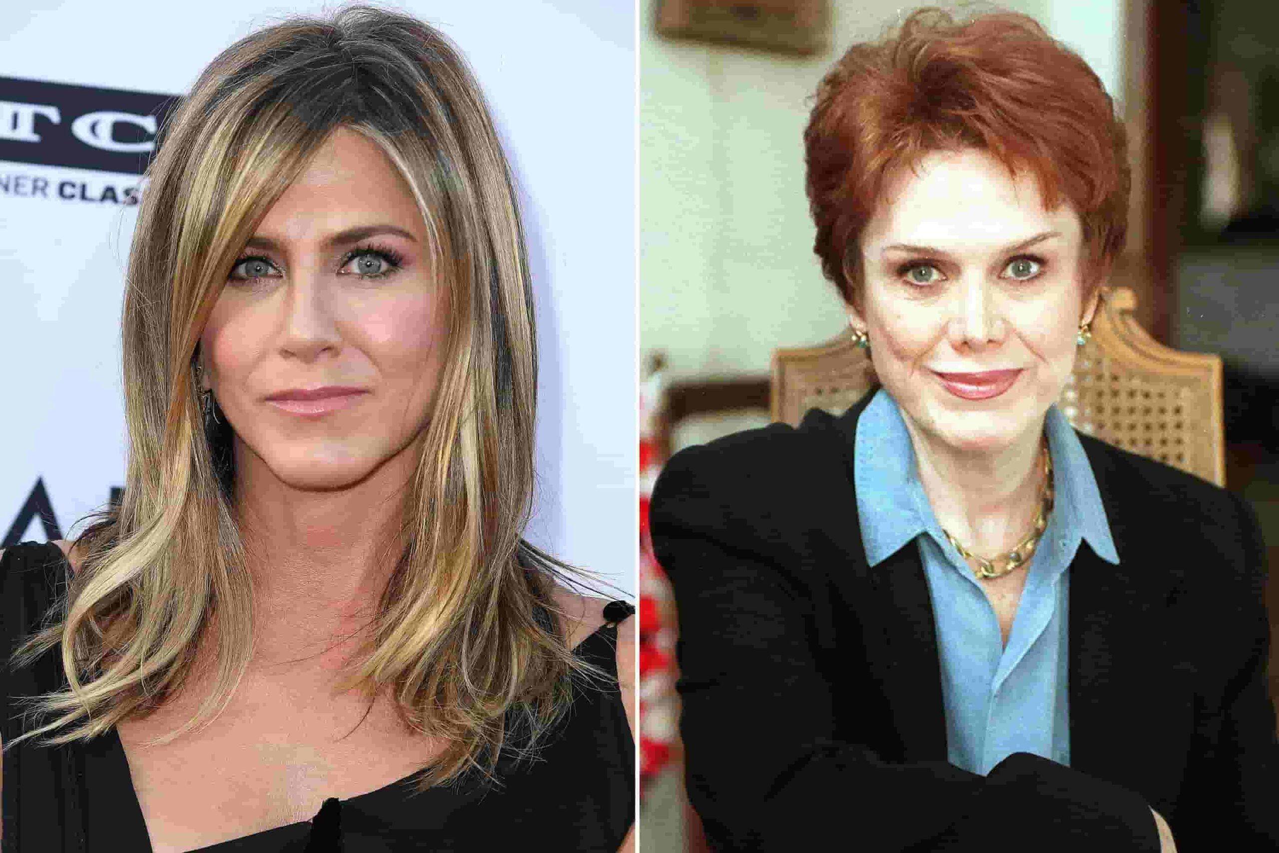 jennifer aniston and her mother nancy dow