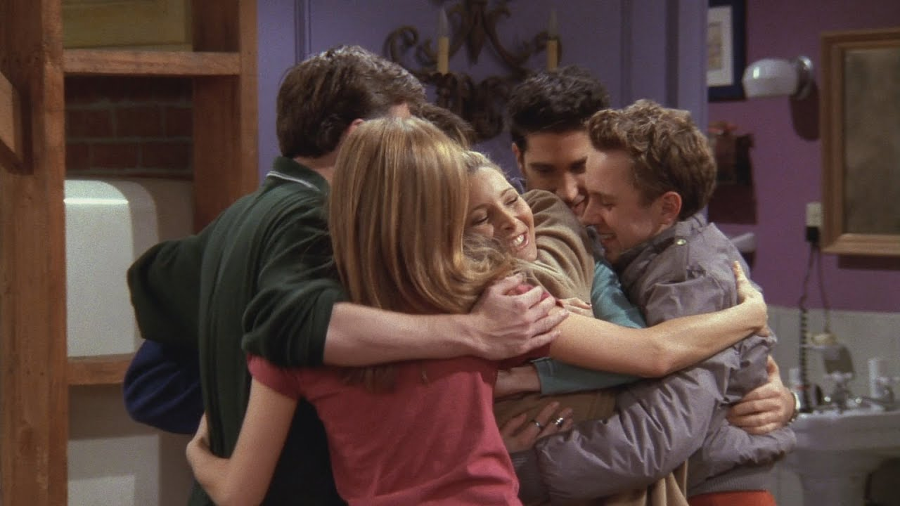 friends series group huddle