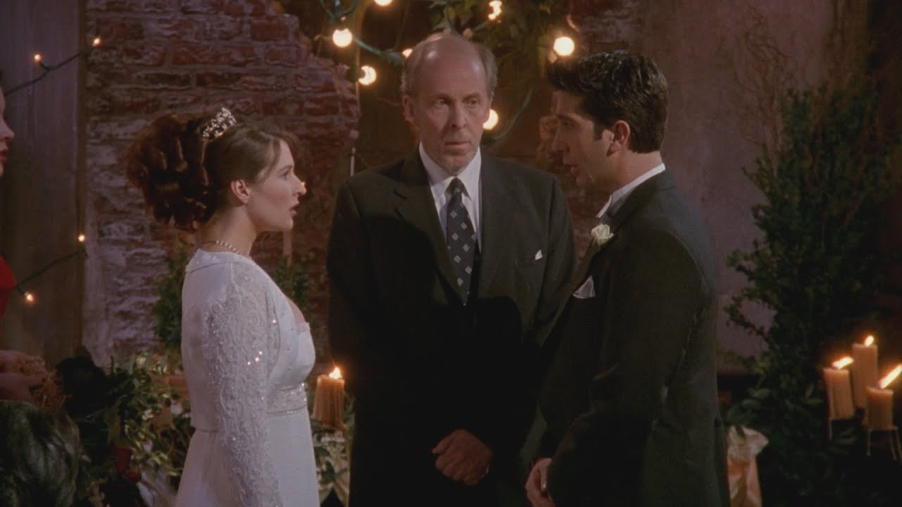 ross and emily in their wedding