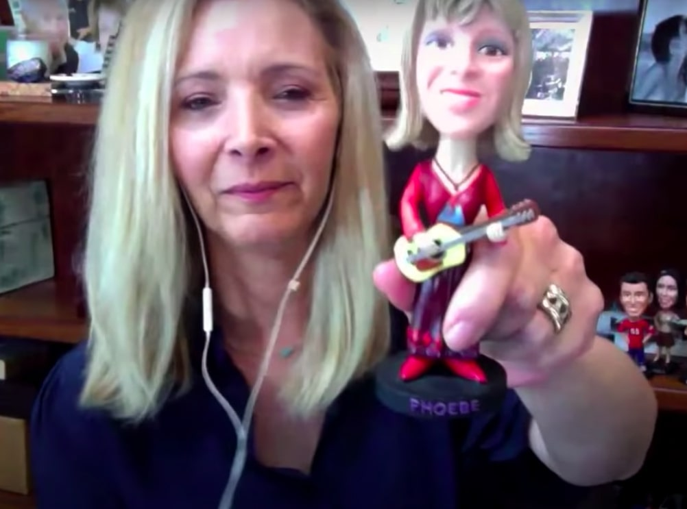 bobblehead of phoebe in phoebe's office