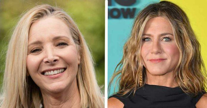 jennifer aniston and lisa kudrow meet to discuss friends dialogues and events