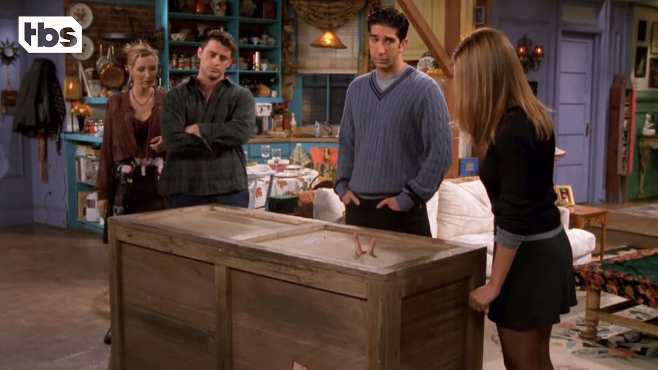 joey punishing chandler and asks him to be in a box