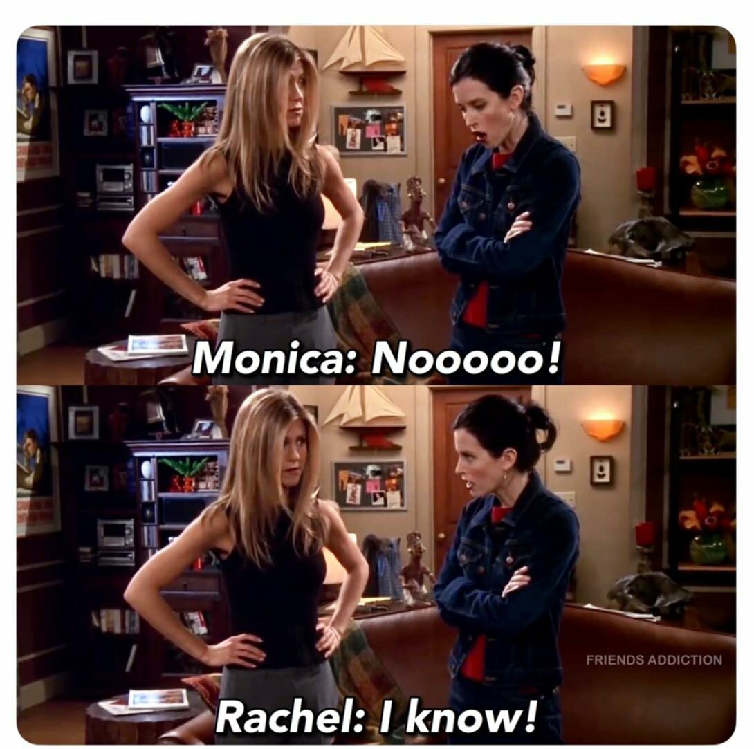 courteney taking the role of rachel green would have been like this