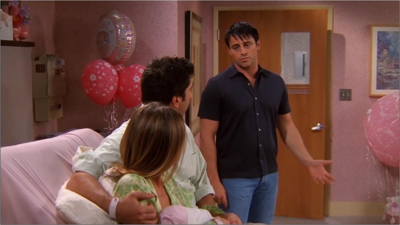 the scene where no one proses rachel in friends in season 9