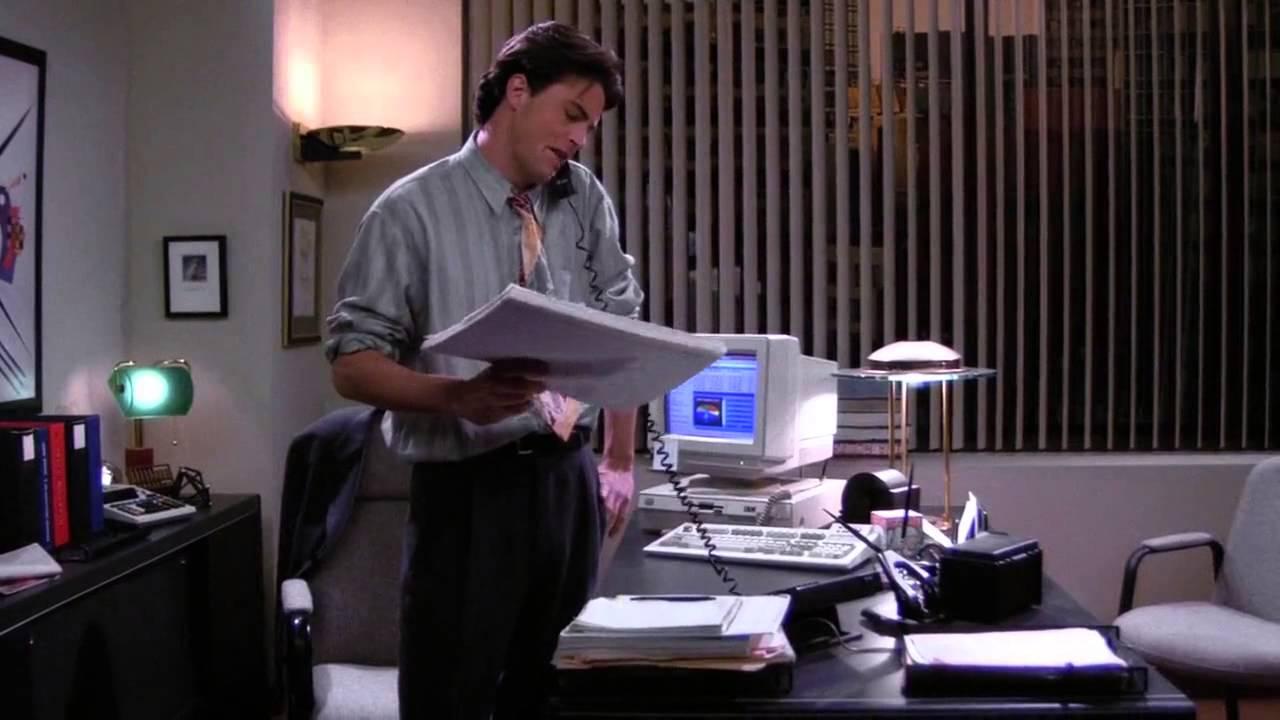 chandler at his job