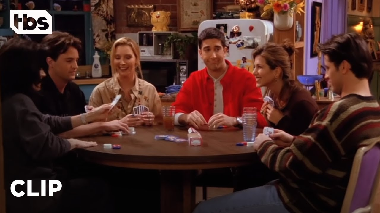 friends playing poker in an episode