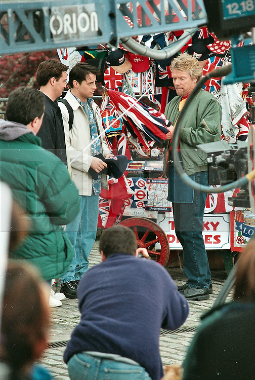 Friends shooting at the London Trinity Place, Tower of London. Here Richard Branson sells Joey the hat