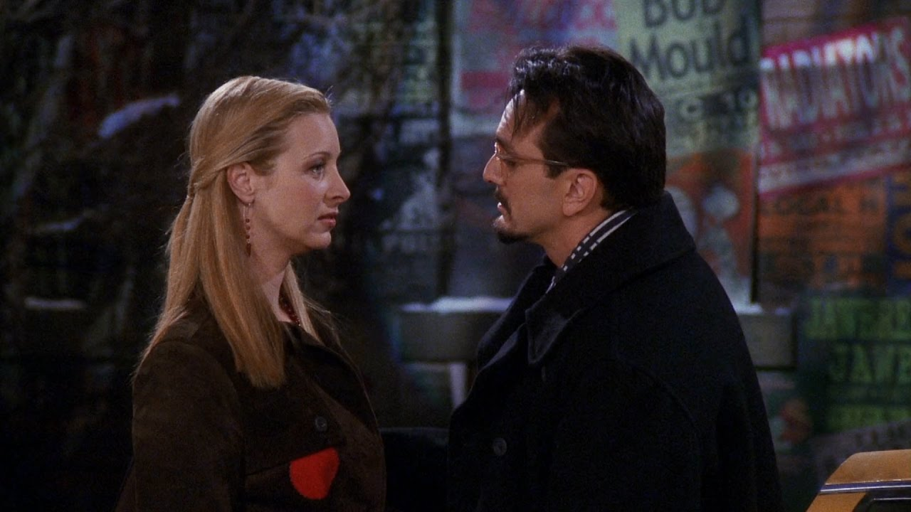 phoebe and david looking at each other from friends